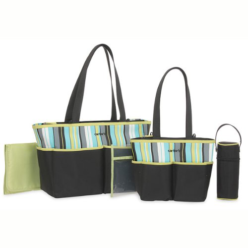 Carter's Diaper Bag Set - Green - 1