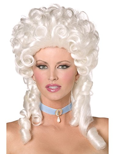 Smiffys Historical Marie Antoinette Costume Colonial White Wig
