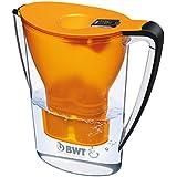 BWT Penguin Tischwasserfilter 2,7l, orange, mit einer Kartusche Magnesium Mineralizer, Wasserfilter für Leitungswasser