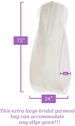 white wedding gown travel storage garment bag by bags for less