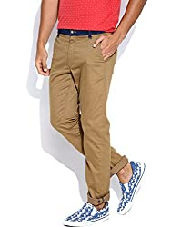 Being Human Men's Casual Trousers (8903861260489_BHNDC6008_28W x 32L_Dark Stone)