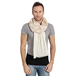 FabSeasons Blue Cotton Stripes Printed Scarf, Scarves, Stole and Shawl for Men