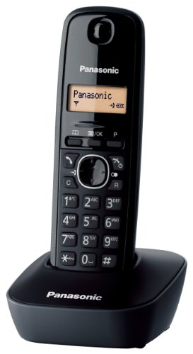 Panasonic KX-TG1611 Telefono Cordless Domestico, Nero