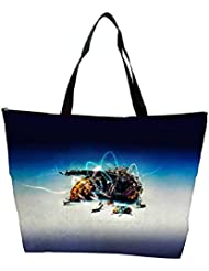 Snoogg Abstract Bee Designer Waterproof Bag Made Of High Strength Nylon