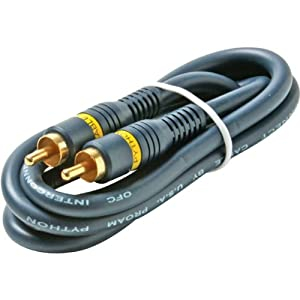 6' Python? Home Theater RCA-RCA Video Cables 6' Python? Home Theater RCA-RCA Video Cables