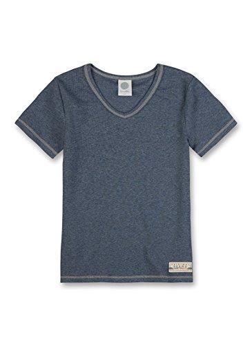 Sanetta Jungen Unterhemd 344194, Gr. 176, Blau (jeans mel. 5897)
