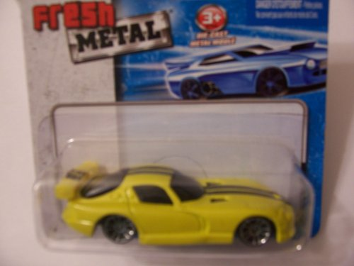 Maisto Fresh Metal Die-Cast Vehicles ~ 1998 Dodge Viper GTS (Yellow) - 1