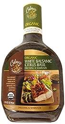 Culinary Treasures Organic White Balsamic Citrus Basil Dressing and Marinade, 32 Ounce