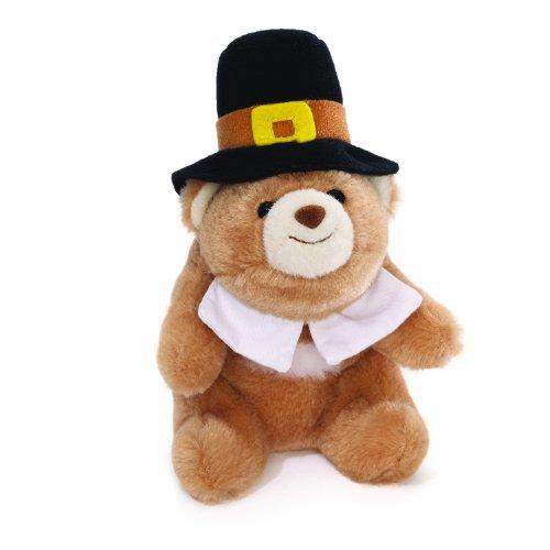 "Gund Lil' Snuffles Pilgrim Bear 5"" - 1"