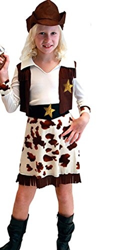 Acediscoball Girls' Wild West Rodeo Cowgirl Halloween Party Fancy Dress Costume