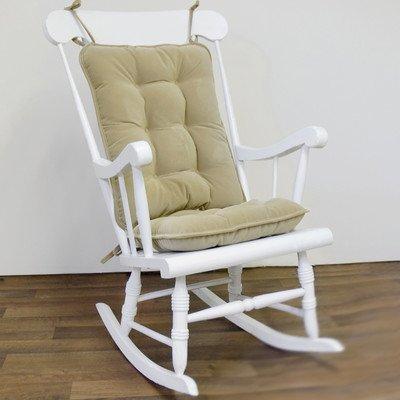 Greendale Home Fashions Standard Rocking Chair Cushion Set, Cherokee Solid, Khaki