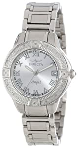 Invicta Women's 14801 Angel Silver Dial Diamond Accented Stainless Steel Watch