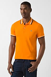 Jeffrey Short Sleeve Ribbed Collar Polo With Tipping