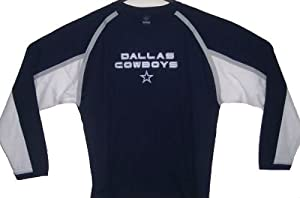 Dallas Cowboys NFL Adult Size X-Large XL Long Sleeve Shirt - Authentic & NEW by Reebok