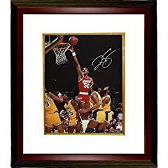 Ralph Sampson Autographed Hand Signed Houston Rockets 16x20 Photo Custom Framed by Hall of Fame Memorabilia