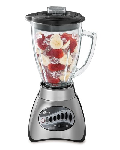 Oster 6811 6-Cup Glass Jar 12-Speed Blender, Brushed Nickel (Back To Basic Blenders Parts compare prices)