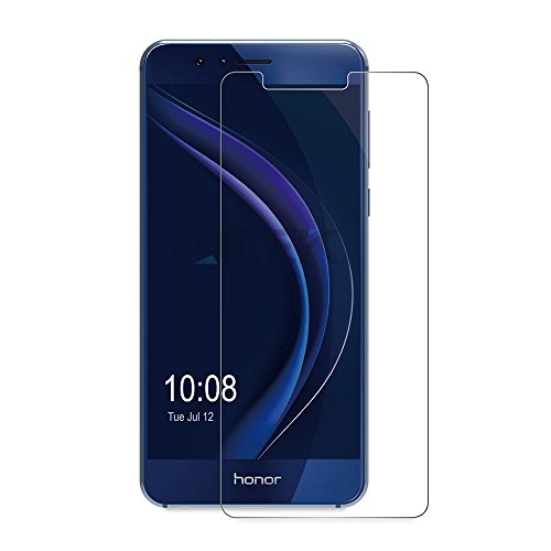Huawei Honor 8 Screen Protector, AICEK Premium Tempered Glass Screen Protector for Honor 8 9H Hardness and Easy Bubble-Free Installation Invisible Shield Film Guard Cover (Second Screen for Honor 8, Anti-Sharp Scratch)