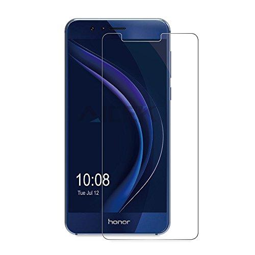 Protector de Pantalla para Huawei Honor 8,AICEK Honor 8 Cristal Templado Premium [9H Dureza & 3D Tacto] Vidrio Templado Protector de pantalla para Honor 8