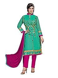 Subhash Sarees Daily Wear Green Color Chanderi Silk Salwar Suit Dress Material