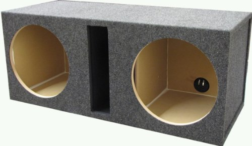 "R/T 300 Enclosure Series (328-12 Diamond) - Dual 12"" Slot Vented Sub Bass Hatchback Speaker Box With Labyrinth Power Port For Diamond Audio Subs"