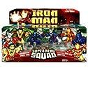 "Marvel Super Hero Squad 3"" Figures Dreadknight, Zhang Tong, Stealth Armor Iron Man & Iron Man"