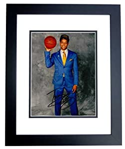 Trey Burke Autographed Hand Signed Utah Jazz 8x10 Photo BLACK CUSTOM FRAME by Real Deal Memorabilia