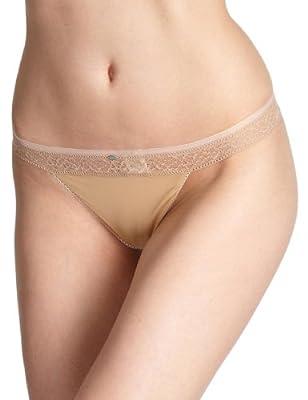 Calvin Klein underwear Damen String F3322E Naked Glamour Thong with Lace by Warnaco Deutschland GmbH
