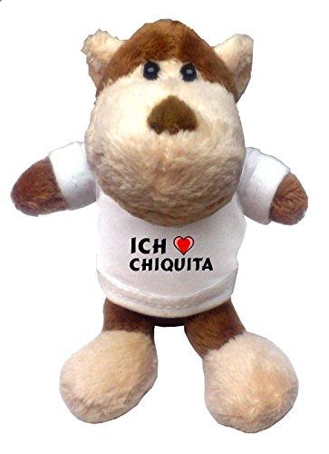 plusch-affe-schlusselhalter-mit-t-shirt-mit-aufschrift-ich-liebe-chiquita-vorname-zuname-spitzname