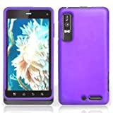 Purple Rubberized Hard Plastic Case for Motorola Droid 3 XT862