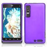 Purple Rubberized Hard Plastic Case for Motorola Droid 3 XT862