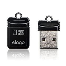 ELAGO Nano Mobile Micro SD Reader-World Smallest (EL-RD-011,Black)