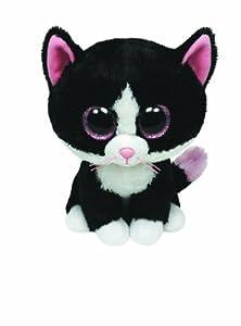 Ty 7136038 - Gato de peluche Peppers (15 cm), color blanco y negro [importado de Alemania]