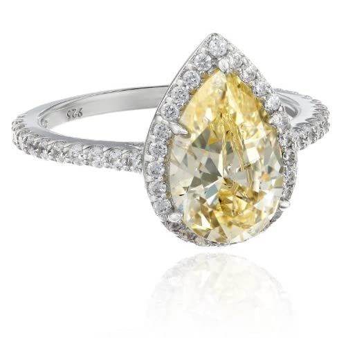 "[マイヤ パッシェロ] Myia Passiello ""Cocktail Ring"" Pear Cut Swarovski Zirconia Yellow Ring サイズ 8 リング 【並行輸入品】"