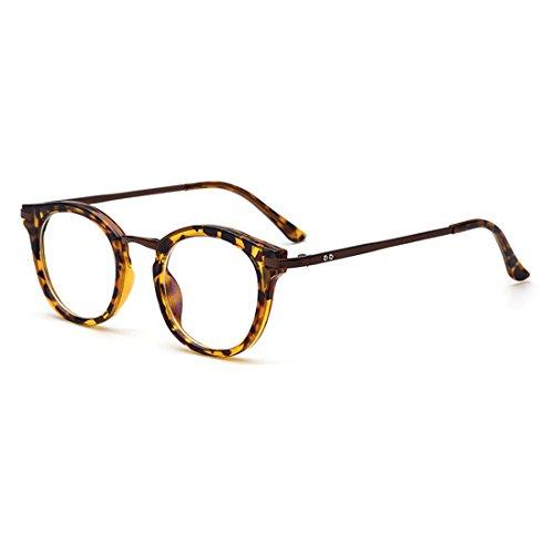 dking-vintage-round-prescription-eyeglasses-horn-rim-clear-lens-eye-glasses-frame-leopard
