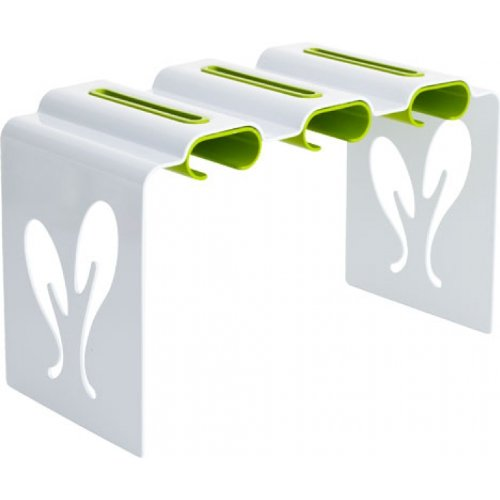 Boon Pouch Rack Baby Food Pouch Organizer, White/Green (Discontinued by Manufacturer)