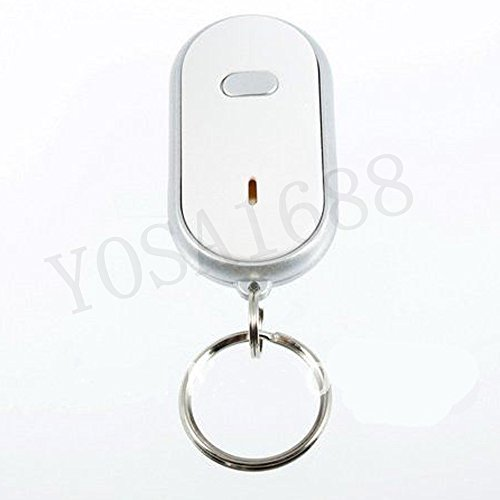 Raypley 1pcs Find Lost Keys Chain LED Key Finder Locator Keychain Whistle Sound Control (Key Chain With Sound Locator compare prices)