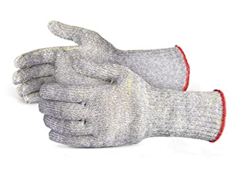 Superior SCX4D6C Emerald CX Dyneema/Kevlar/Steel Slabber's String Knit Glove with PVC Dotted, Work, Cut Resistant, 7 Gauge Thickness, X-Large (Pack of 1 Pair)