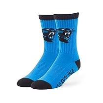 NFL Carolina Panthers '47 Bolt Sport Socks, Glacier Blue, Medium (Men's 5-8.5 / Women's 5-9.5), 1-Pack