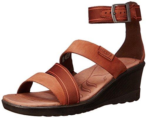 KEEN Women's Skyline Ankle Wedge Sandal, Tortoise Shell, 5 M US