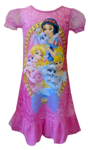Disney Princesses And Palace Pets Pink Toddler Gown For Girls (4T) back-815255