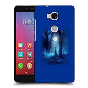 Snoogg Lady At Night Designer Protective Back Case Cover For HUAWEI HONOR 5X