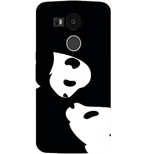 Casotec Panda Drawing Design Hard Back Case Cover for LG Nexus 5X