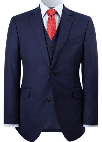 Austin Reed Contemporary Fit Blue Twill Jacket REGULAR MENS 44