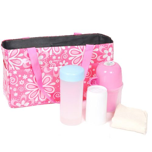Waterproof Mother Pregnant Pouch Tote Bags Travel Bags Baby Diaper Insert Organizer Storage Mother Bags (Pink) front-27703