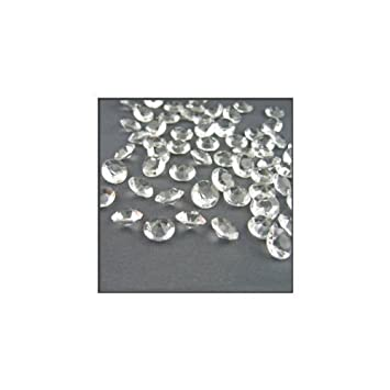 2000 Diamond Table Confetti Wedding Bridal Shower Party Decorations 1 Carat/ 6.5mm Clear