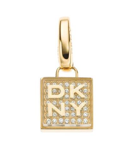 ladies-dkny-square-gold-ip-charm