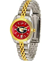 Georgia Bulldogs UGA Ladies Gold Dress Watch