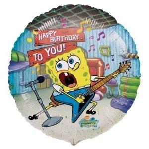 "Sponge Bob ""Happy Birthday to You"" Nickelodeon 18"" Mylar Balloon (Pack of 4)"