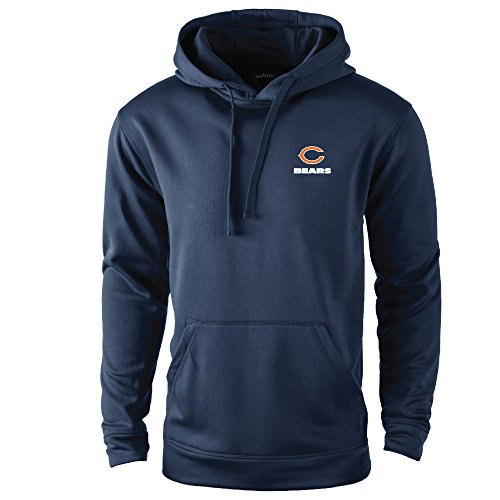 NFL Chicago Bears adult Champion Polyester Tech Fleece Pullover, X-Large, Navy (Chicago Bears Hoodie compare prices)