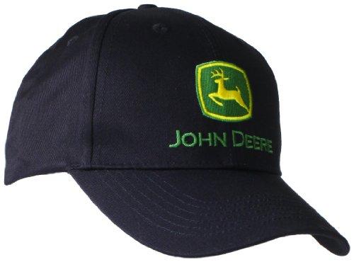 John Deere Men`s Trademark Logo Core Baseball Cap, Black, One Size
